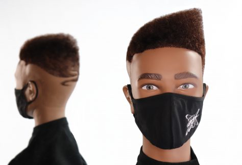 Barbering cut on mannequin